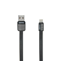 Кабель Metal Platinum USB – Lightning 1м (Remax, черный)